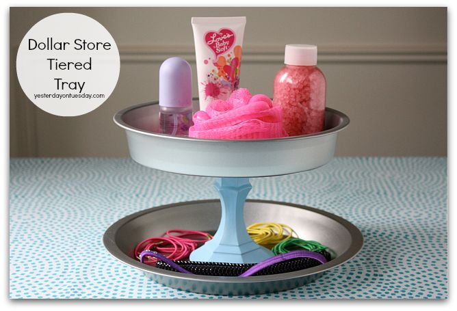 Dollar Store Tiered Tray