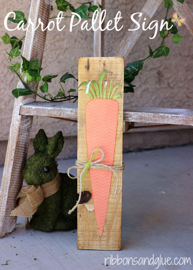 Carrot Pallet Sign
