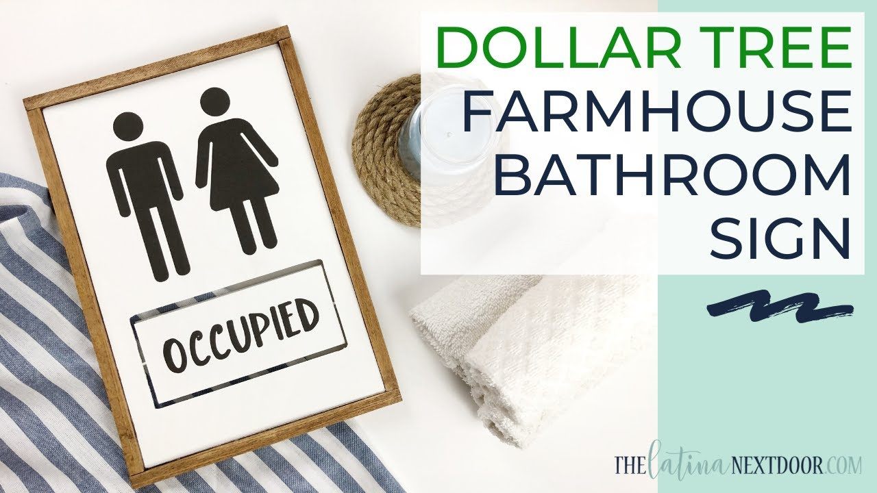 Farmhouse-Inspired Occupied Sign