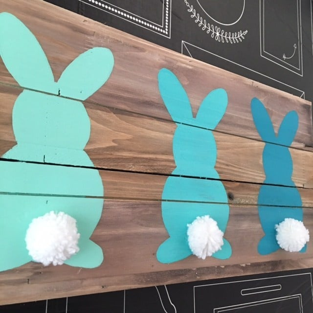 Ombre Easter Wood Board