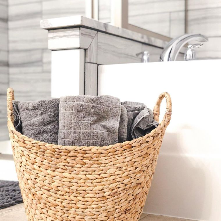 Wicker Towel Basket