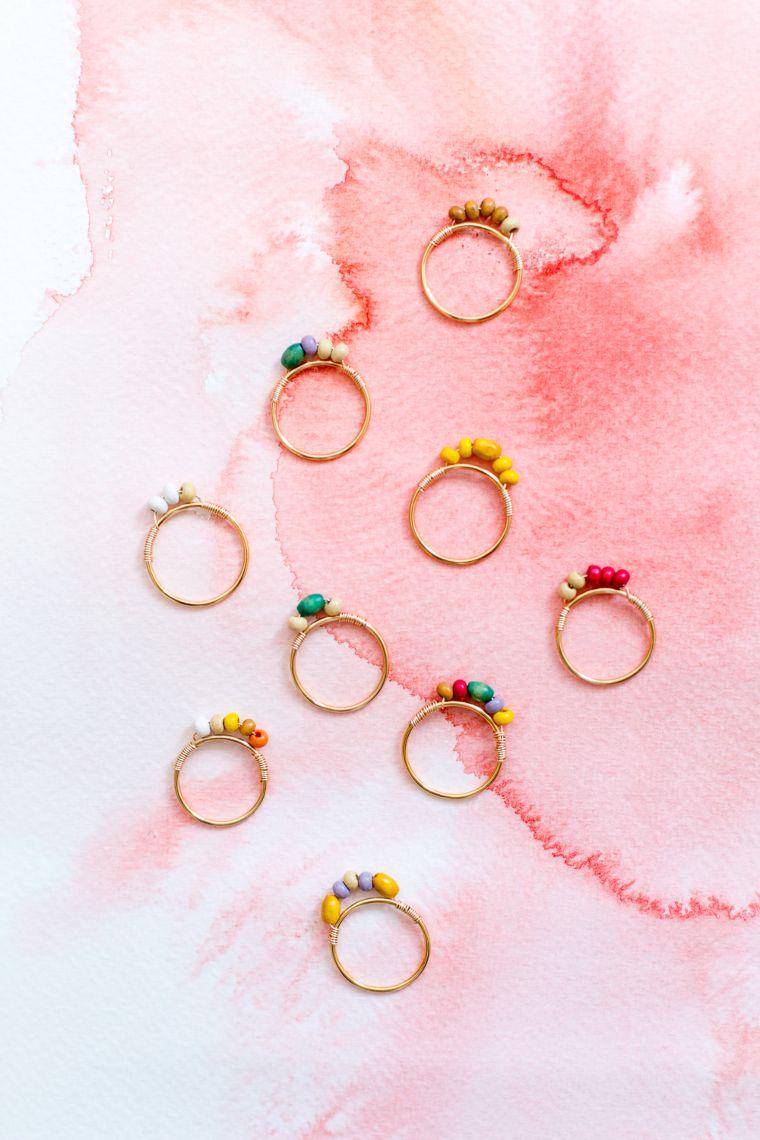 Mini Beaded Rings
