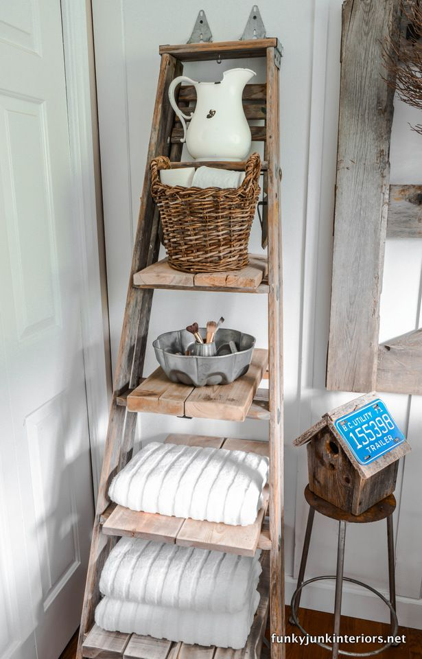 Reclaimed Wooden Ladder