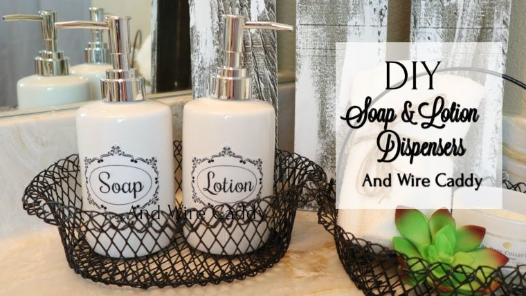 Lotion Dispensers with Wire Caddy