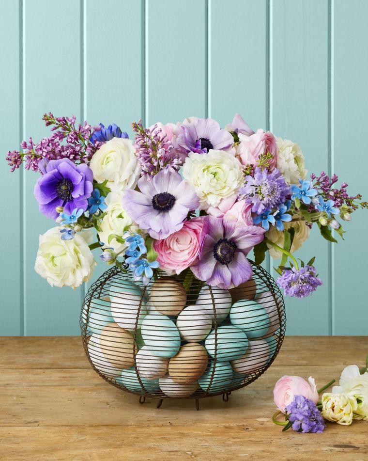 Vintage Egg Basket Vase