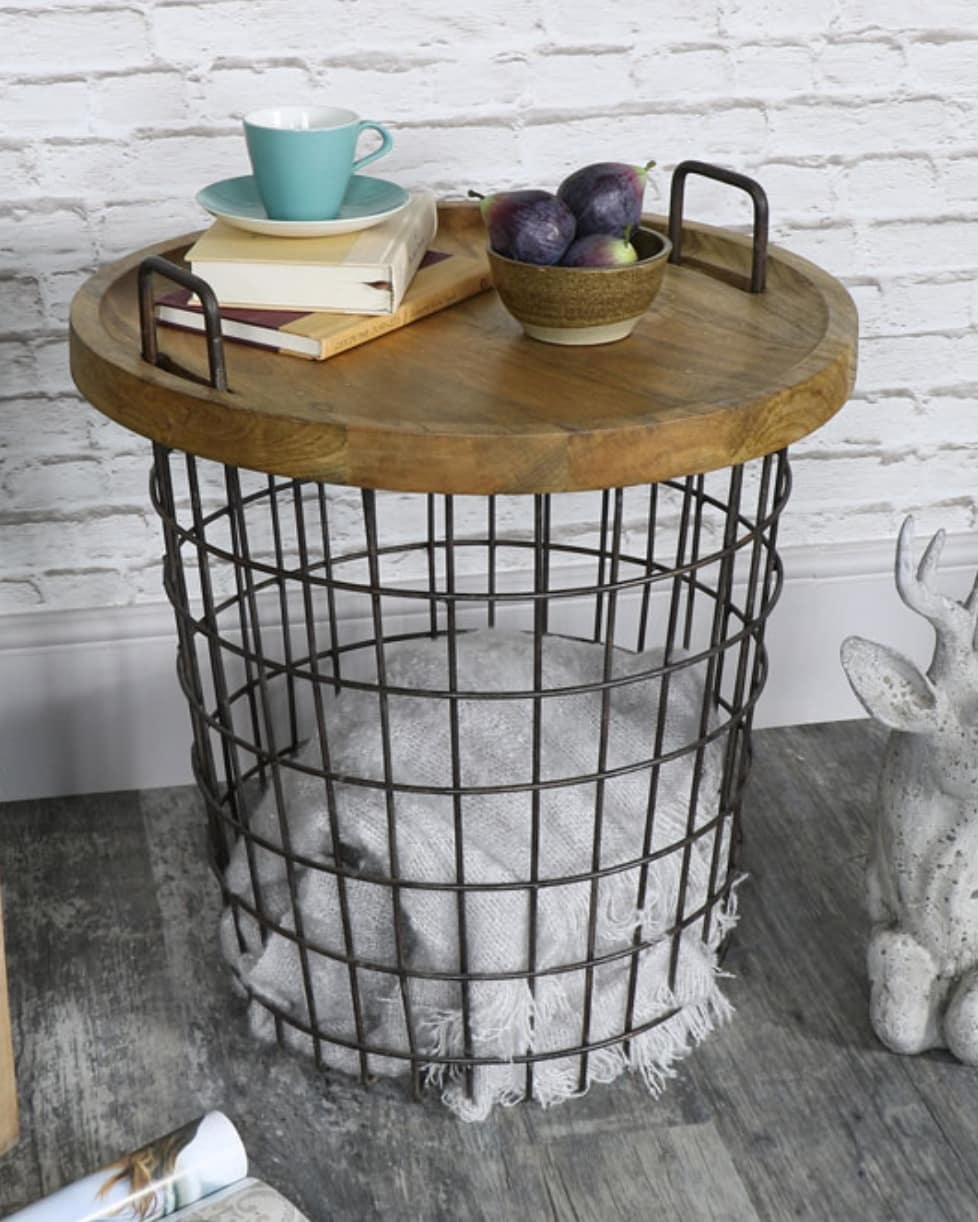 Industrial Basket Table