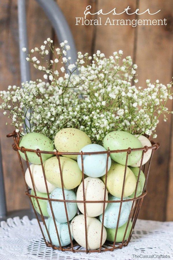 Rusted Basket Floral Arrangement