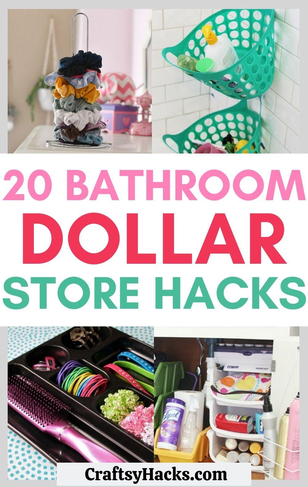 bathroom dollar store hacks