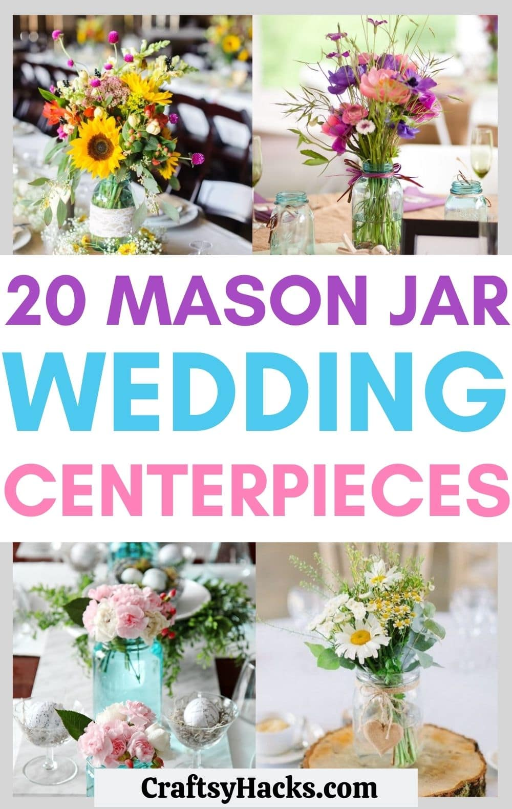 mason jar centerpiece ideas