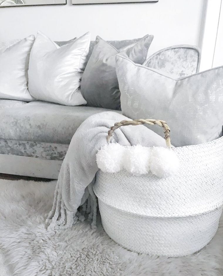 Monochromatic Blanket Basket