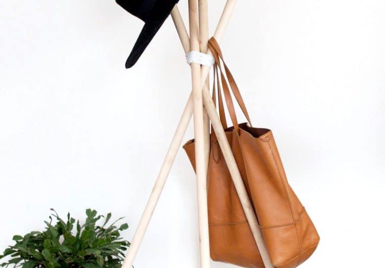 Wood Hat Rack