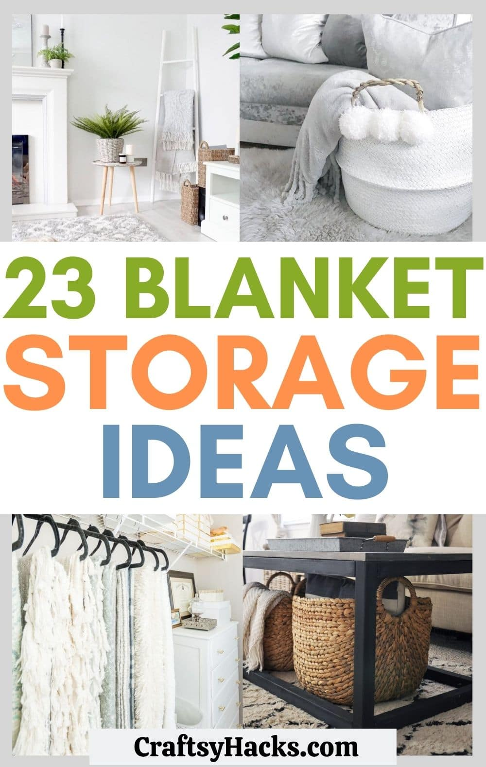 blanket storage ideas
