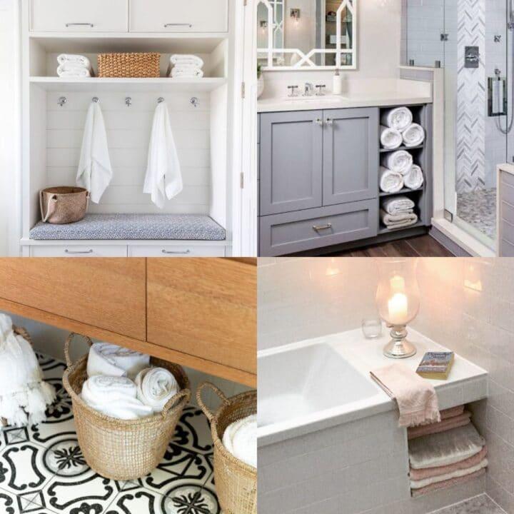 towel storage ideas