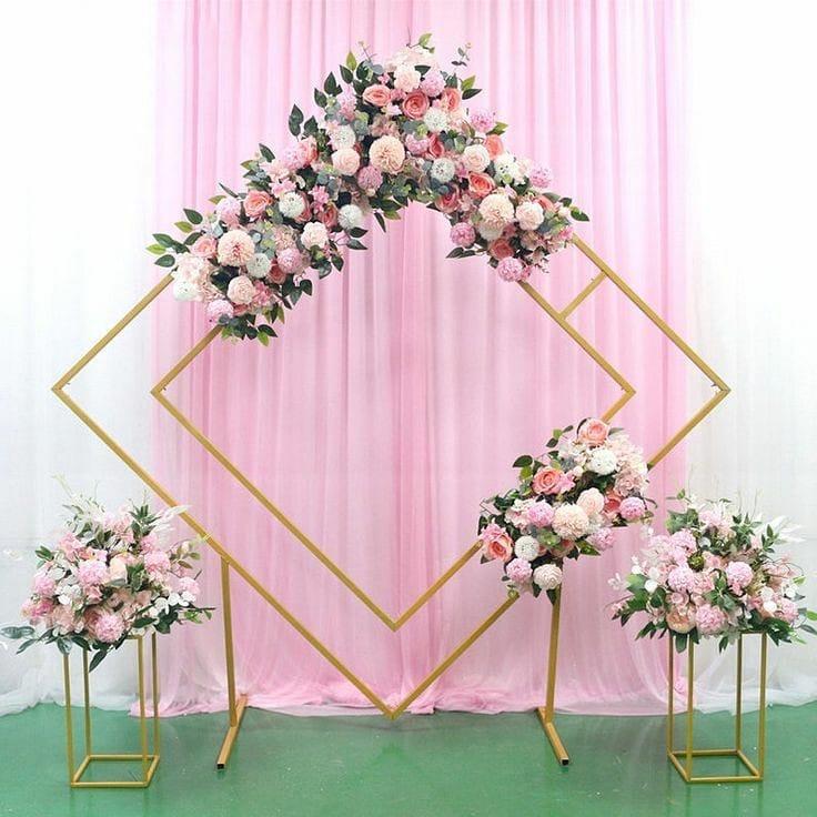 diamond floral arch