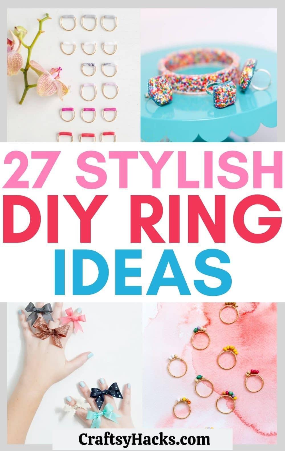 diy ring ideas