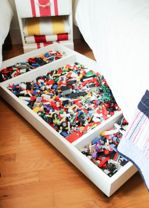 DIY Under-Bed Rolling Lego Cart