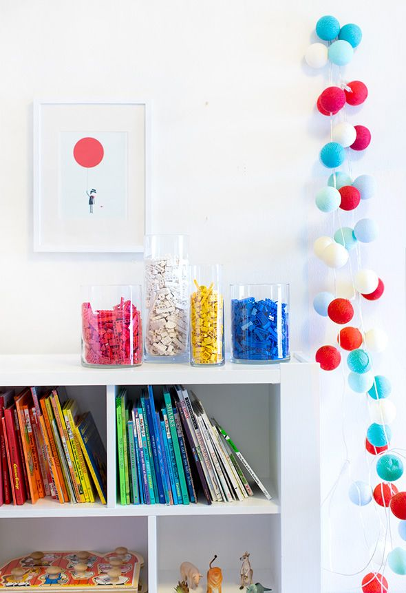 Colorful Lego Vases