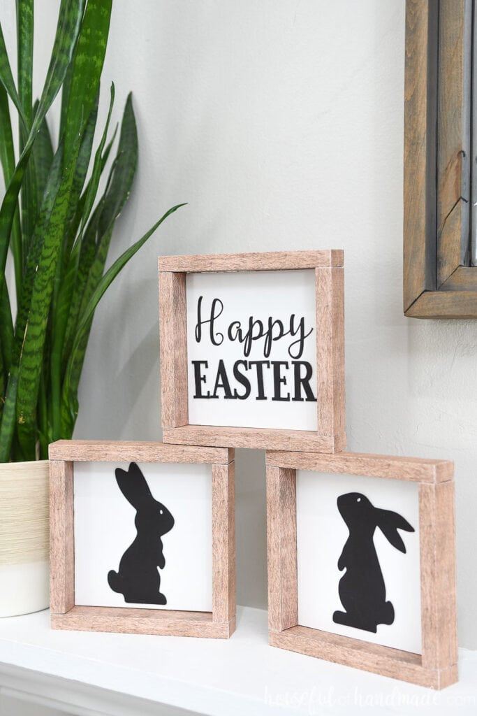 Faux Wood Easter Signs