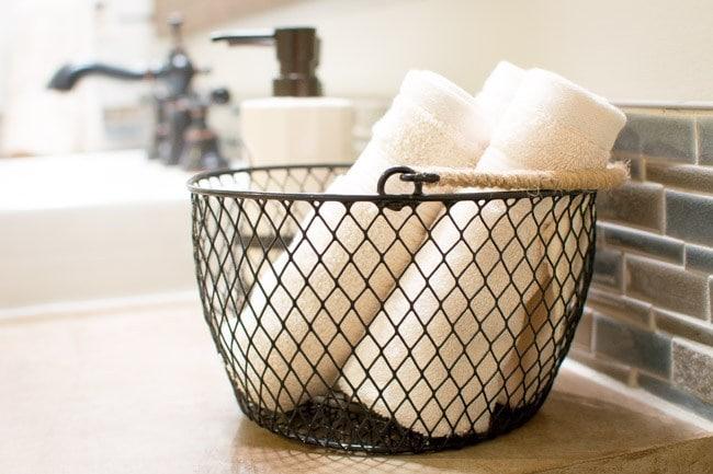 Industrial-Style Towel Bin