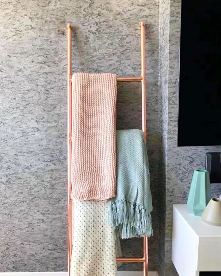 Rose Gold Ladder Storage