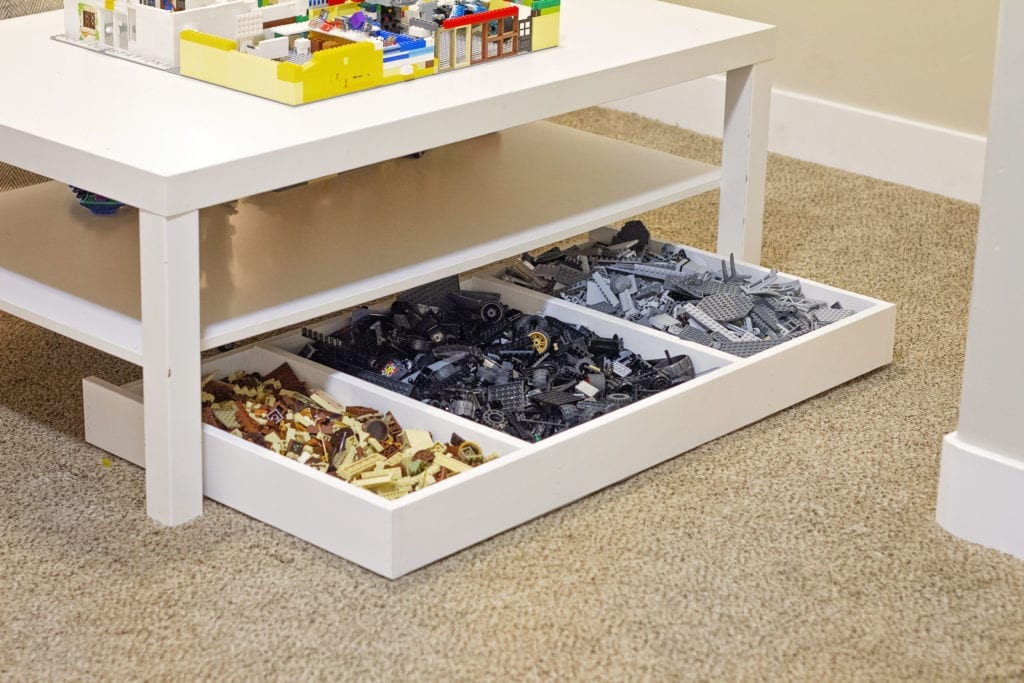 Under-the-Table Lego Organizer
