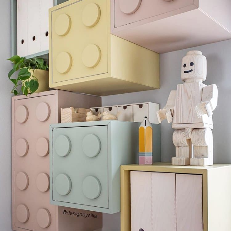 Pastel Lego Storage Shelves