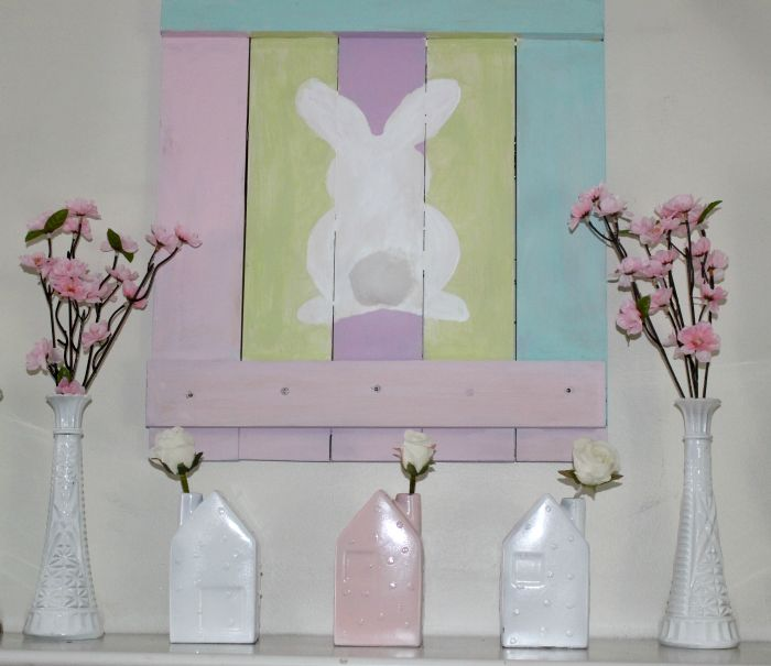 Pallet Wood Spring Bunny Sign
