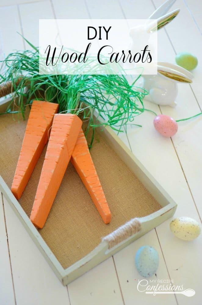 DIY Wood Carrots