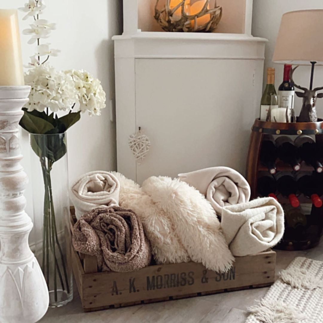Farmhouse-Style Blanket Crate
