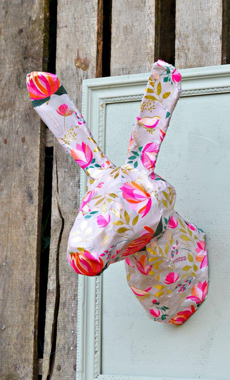 Papier Mache Rabbit Head