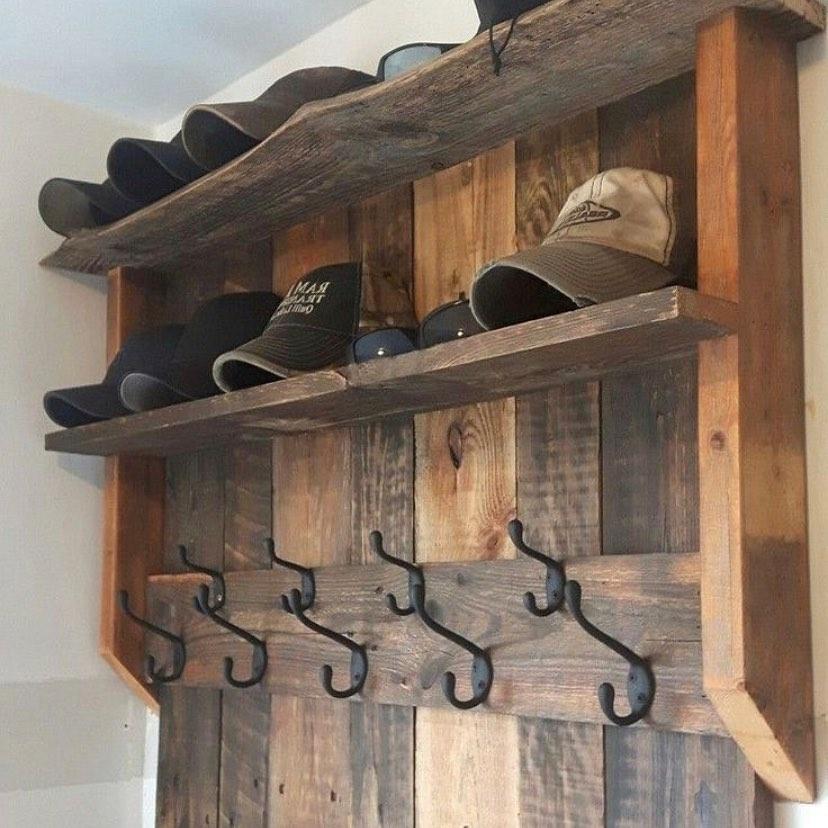 Wooden Pallet Hat Shelf