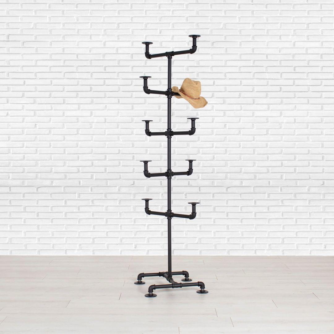 Industrial-Inspired Pipe Hat Rack