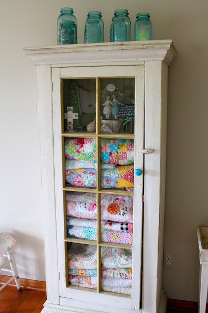Shabby Chic Quilt Cabinet