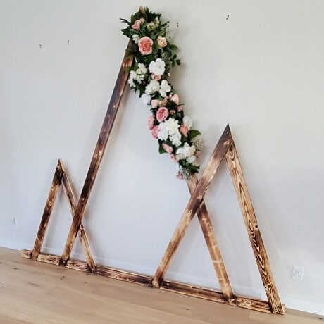 Tri-Angle Wedding Arch