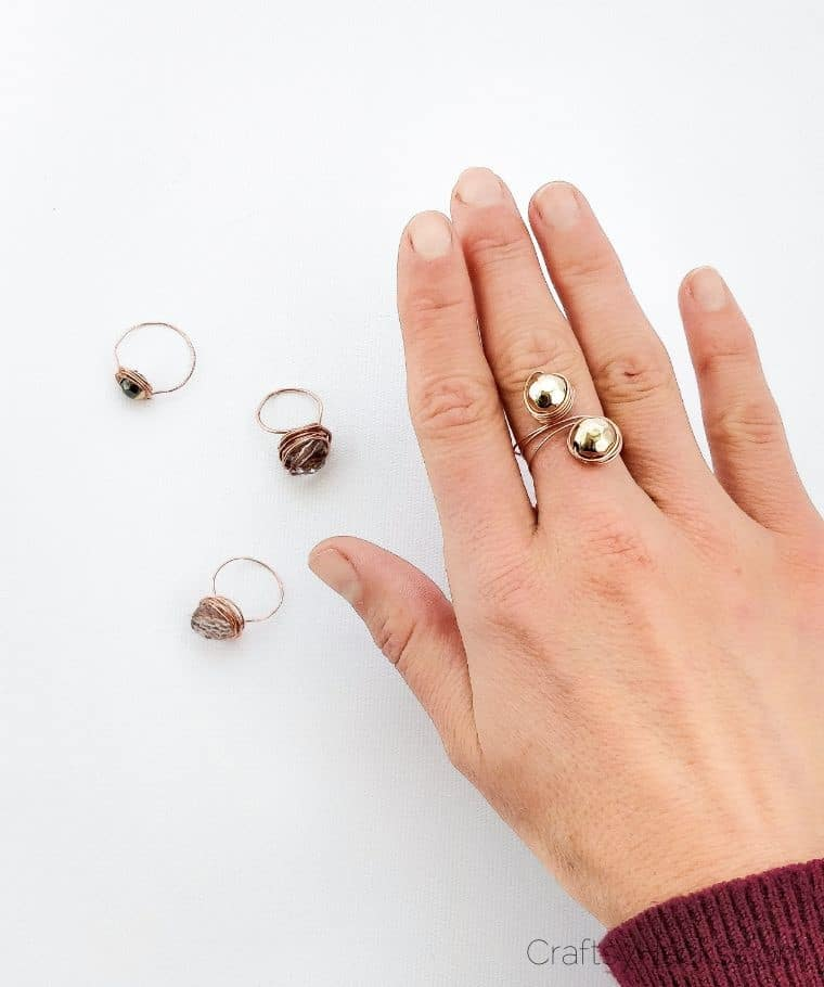 Duo-Bead Wire Rings