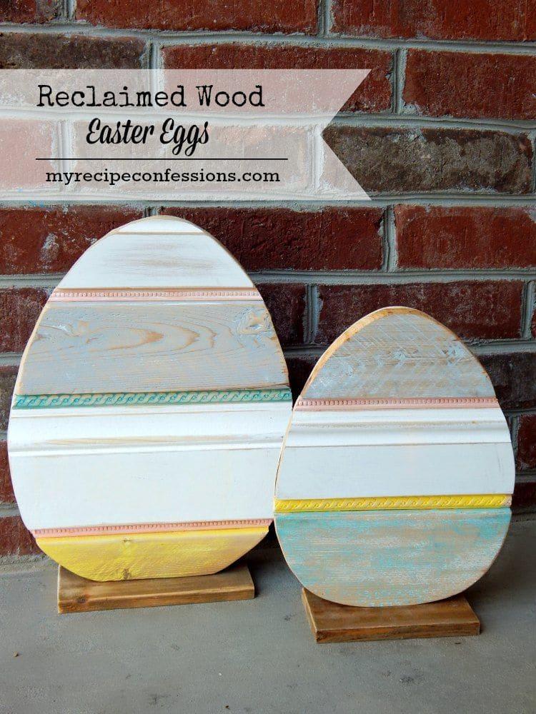Wood Easter Eggs