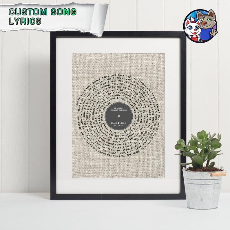 record song print