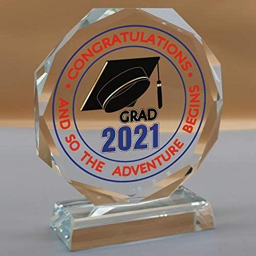 grad 2021 glass paper weight