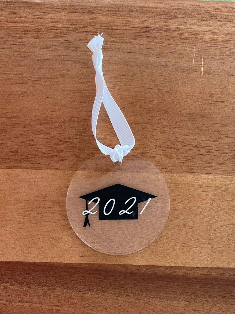 clear grad ornament