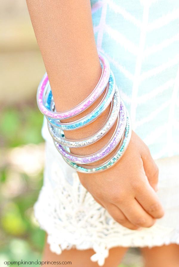 Glitter Vinyl Tube Bracelets