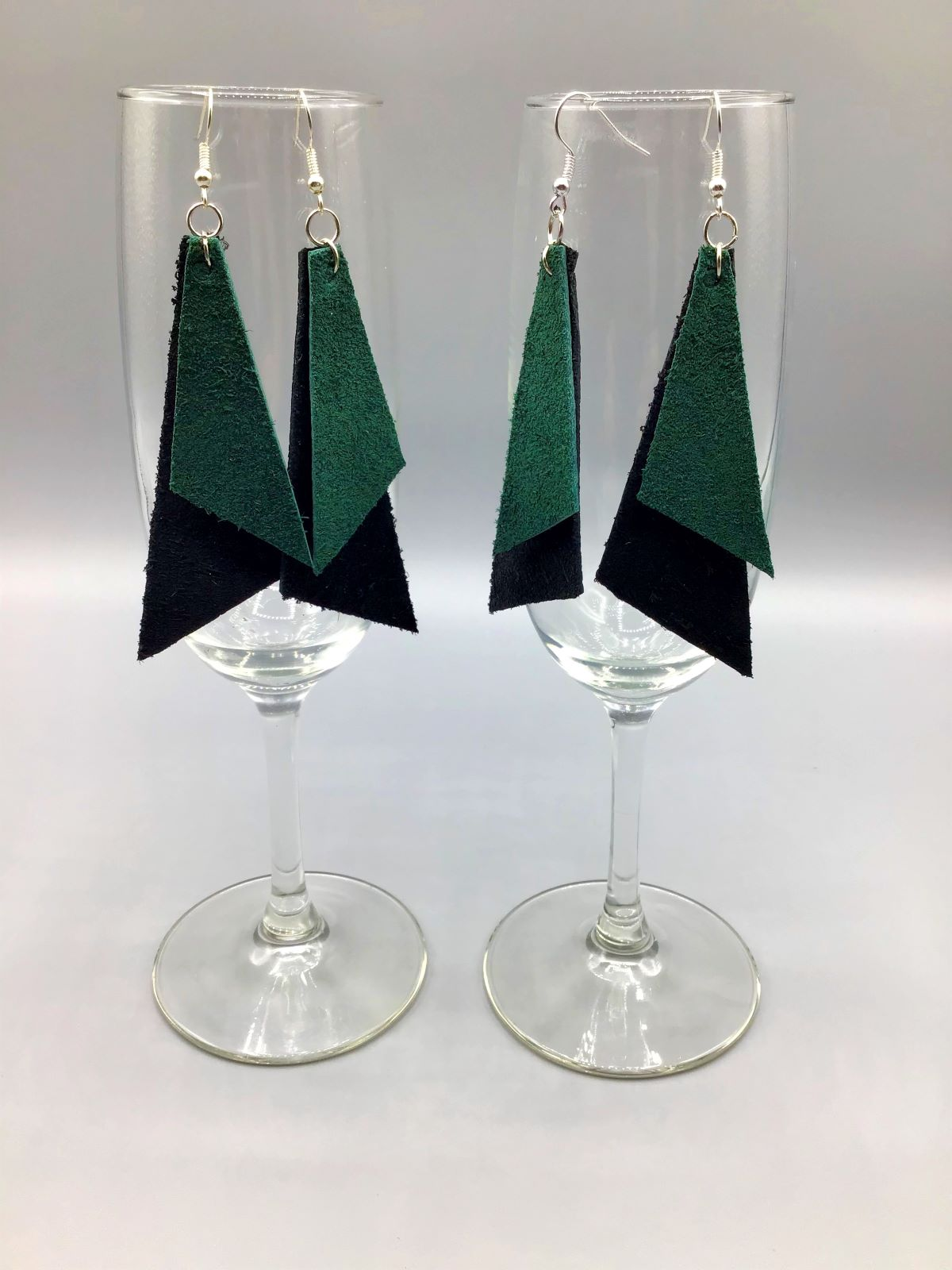 Two-Layer Leather Earrings