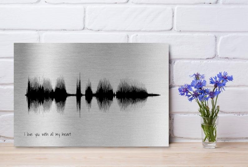 aluminium soundwave print