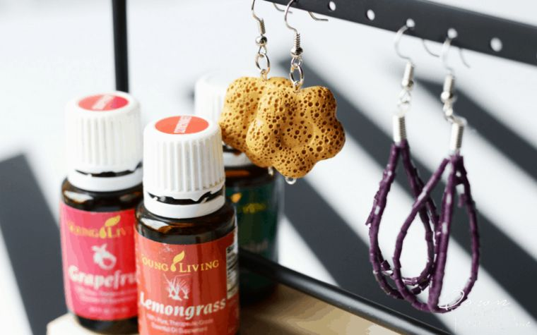 DIY Oil Diffuser Earrings