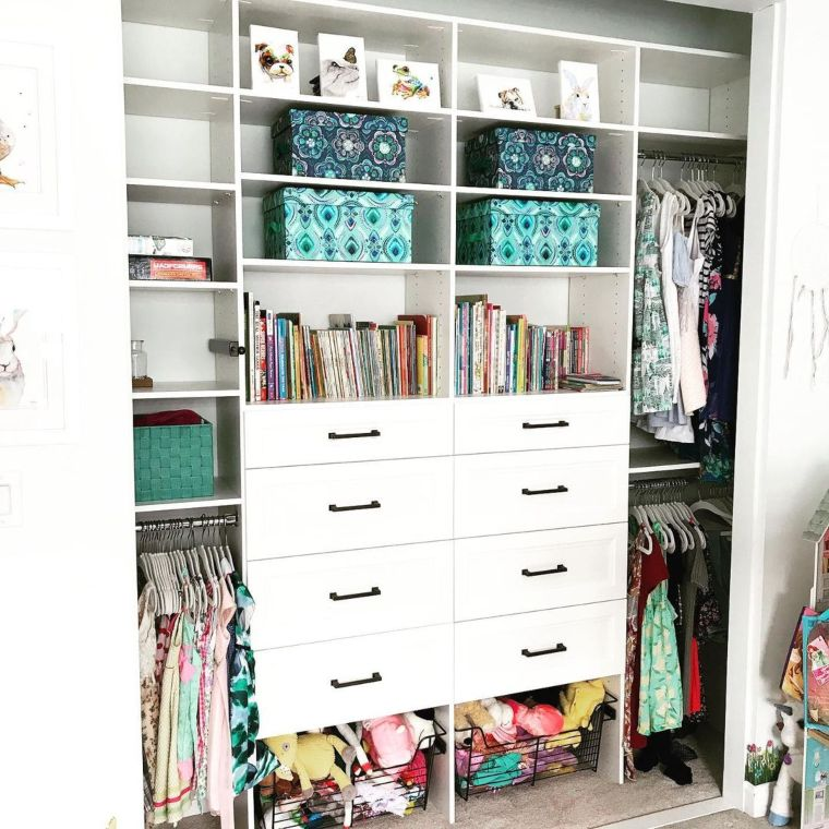Childs Closet with drawers