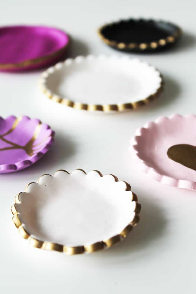 Gold-Rimmed Jewelry Dishes