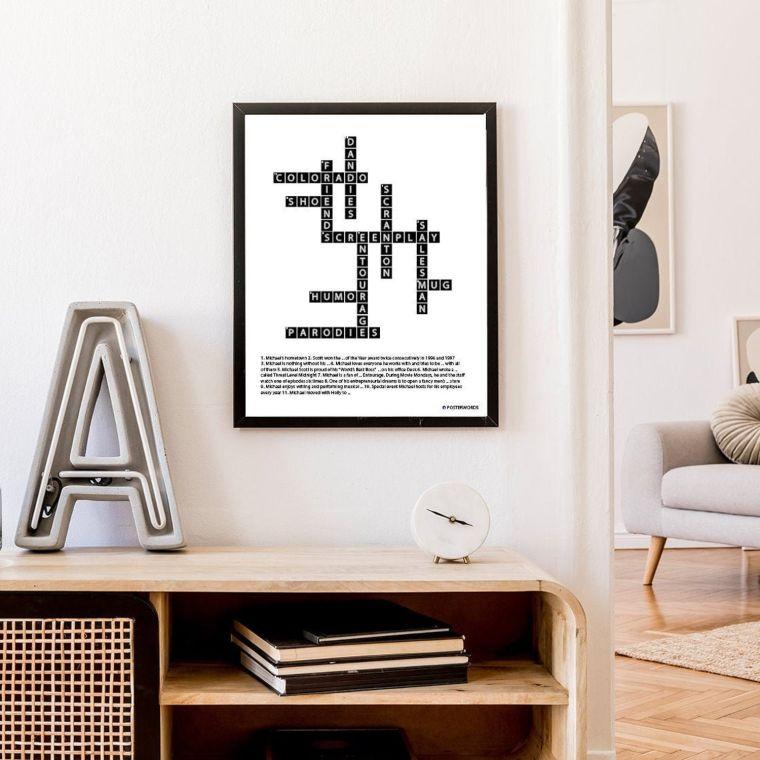 crossword wall art