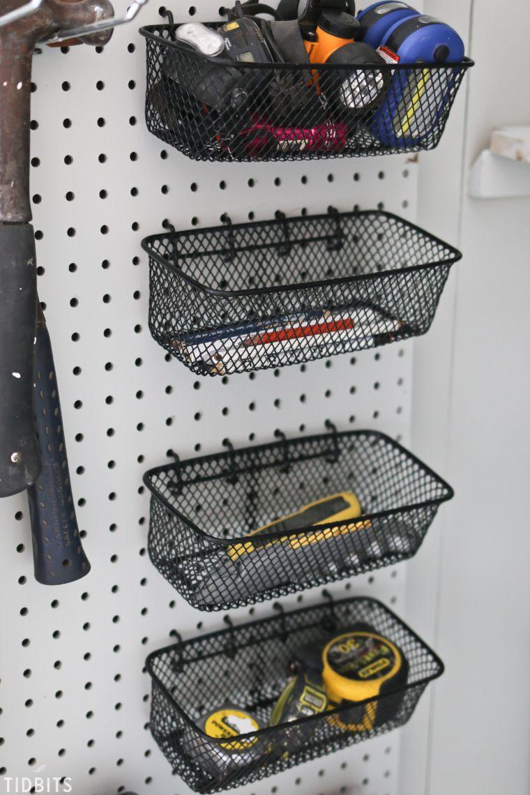 pegboard wire baskets