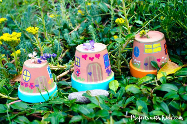 Outdoor Painted Fairy Houses