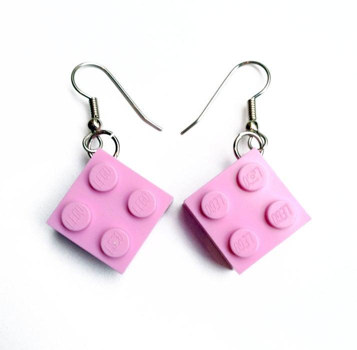 Lego Dangly Earrings