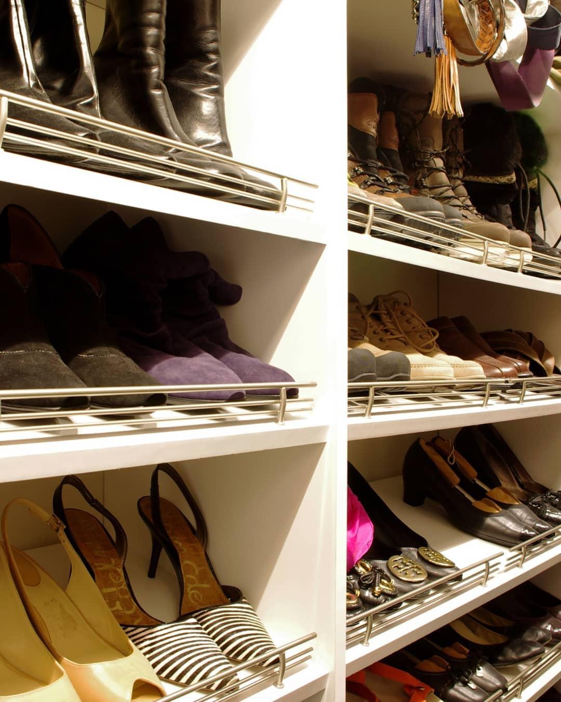 Tilted Shoe Storage